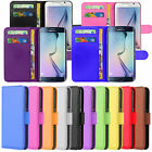 Various Colours PU LEATHER Magnetic Flip Wallet Stand Case Cover For Many Phones