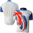 Mens Cycling Jersey / Shirt Short Sleeves Cycle Bicycle Outdoor Top UK FLAG