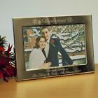 Personalised Snowflake 7x5 Photo Frame Bridesmaid Winter Wedding Gift, Landscape