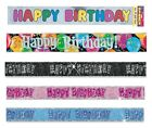 Happy Birthday 9ft Foil Banner - Mens Womens Childrens Party Decorations