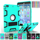For Apple iPad Mini 1 /2 /3 Dual Layer Hybrid Armor Protective Stand Cover Case