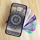 Rubberized Lotus Henna Mandala Hard Case For Samsung Galaxy S4 S5 S6 Note4 Note5