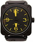 Mens Stainless Steel Black Rubber Carbon BELL BR01-92 PVD BR Automatic Watch New