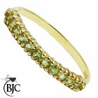 BJC® 9ct Yellow gold Peridot Half Eternity size Q 1/2 engagement ring R147