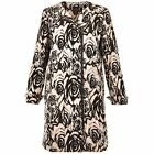 ADRIANNA PAPELL Jacquard Asymmetric Zip Front Floral Jacket 4 6 8 12 NWT
