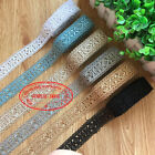 F127 1 Yard Lace Trim Ribbon For Wedding Bridal Dress Embroidered Sewing Crafts