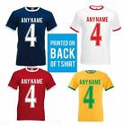RINGER FOOTBALL T SHIRT- EUROS 16 TEAM COLOURS NAME & NUMBER ON BACK - ADULTS