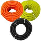 """1"""" x 50' PVC Split Wire Loom Tubing - Commercial Grade, UV Rated for Outdoor Use"""