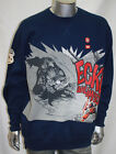 Men's Ecko Captain America Crewneck fleece Navy 100% Cotton