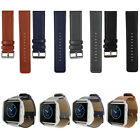 Replacement Genuine Leather Watch Band Wrist Strap For Fitbit Blaze Tracker S &L