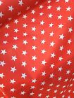 LARGE STARS RED POLYCOTTON FABRIC - POUND COIN SIZE STARS - CUT OF THE ROLL segunda mano  Embacar hacia Spain