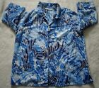 Women's 3/4 Length Sleeve Shirt (blue patterned) (size XL) (pre-owned)