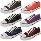 Womens Spot On Canvas Lace Shoes 'X0001'