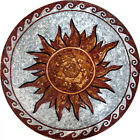 Sun and Waves Medallion Mosaic Art Design - Scilla