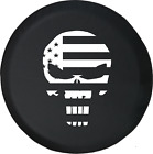 American Patriot Flag Punisher Skull Spare Tire Cover OEM Vinyl
