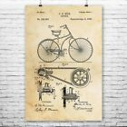 Bicycle Poster Print Cycling Gift Vintage Bike Roadster Antique Bicycle