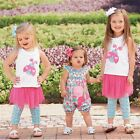 Mud Pie Spring Garden Ladybug Top and Mesh Skirt w/ Attached Legging Set