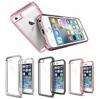 NEW Crystal Premium Hybrid Bumper PC+TPU Clear Back for iPhone 5 SE Case- UK
