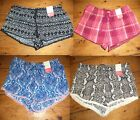 Ladies Novelty Pj Shorts Sizes 6 - 20 New & Tags Primark Pyjamas Animal Print
