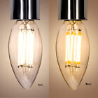 Retro Vintage LED Dimmable Bulbs C35 E14 Screw Edison Lamp 2W 4W 6W Home Light