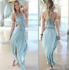 Casual Womens Lady Sexy Evening Party Beach Long Maxi Dress Chiffon Summer A56