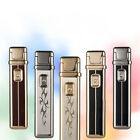 Cool slim long rechargeable usb arc pulse electronic windproof cigarette lighter