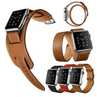 Genuine Real Leather Buckle Wrist Watch Band Strap For iWatch Apple Watch
