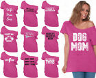 60 DESIGNS Mother's Day Off Shoulder Top T-shirt Mom's Gift PINK-1