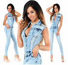 Sexy New Women's Denim Blue Jeans Playsuit Jumpsuit Overall Skinny Slim A 509