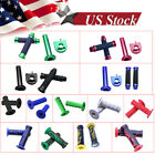 "Universal 22mm 7/8"" Hand Grips Handlebar for Honda Kawasaki Suzuki ATV Dirt Bike image"