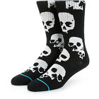 STANCE NEW Mens Black Skull Socks Ulo Sock BNWT