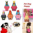 Female Pet Dog Puppy Striped Braces Sanitary Pants Diaper Panty Underwear XXS-XL