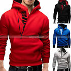 Korean Men's Hooded Sweatshirt Warm Zipper Coat Jacket Sport Sweater Overcoat
