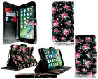 For Apple IPod Touch 5 / Touch 6 New Black Leather Flip Wallet Pouch Case Cover