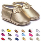 Newborn Baby Boys Girls Kids Tassel PU Leather Shoes Toddler Moccasin Soft Sole