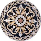 Flower Medallion Handmade Mosaic Art Medallion- Jacinth