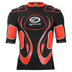 Optimum Inferno Rugby Body Protection Shoulder Pads Black/Red