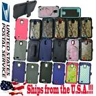 Shockproof Tree Grass Camo Hybrid Rubber Case Cover For Samsung Galaxy S4 +Clip