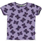 BNWT Girls Smafolk Purple Butterfly Short Sleeved T-shirt NEW Organic Cotton Top