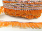 NET FRILL TRIM LACE, GATHERED LACE WITH SEQUIN AND GILTER, 10 COLOURS AVALIBLE