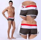 Men's Gray Swim Trunks with White Mesh and Red Waistband S, M, L