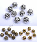 Tibetan Silver Round Shaped Heart Hollow Spacer Beads Findings 11mm D3000