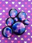 Pair of Galaxy Space Ear Plugs Tunnels Gauges- 6mm - 25mm
