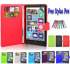 Magnetic Leather Side Wallet Book Flip Case Cover For Various Nokia Lumia Phones