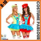 Womens Super Mario Bros Luigi Ladies Fancy Dress Costume Size 8 -10