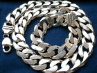"15mm 925 STERLING SILVER MEN'S CUBAN LINK CHAIN NECKLACE 20"" - 36"""