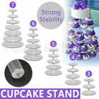 3/4/5/6/7 Tier Clear Acrylic Round Cup Cake Cupcake Stand Wedding Birthday Party