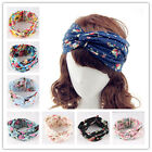 Women Girls Floral Elastic Turban Twist Knot Headband Head Wrap Wide Stretch