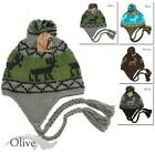 NEW STYLE FASHION WINTER BEANIE DEER PRINT HAND KNITTED HAT  HIGH QUALITY