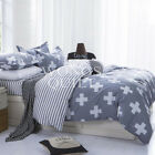 Blend Cross Quilt Doona Cover Bed Set Single Double Queen King Size AU Stock NEW